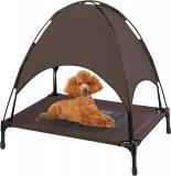 מיטת כלבים מוגבהת עם חופה נשלפת